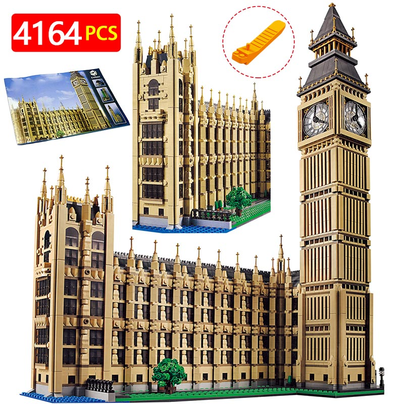 Technique Blocs de Construction Compatible LegoINGlys Architecture Big Ben Ville Street View Série Monde Grand Célèbre Maison 4164 pcs