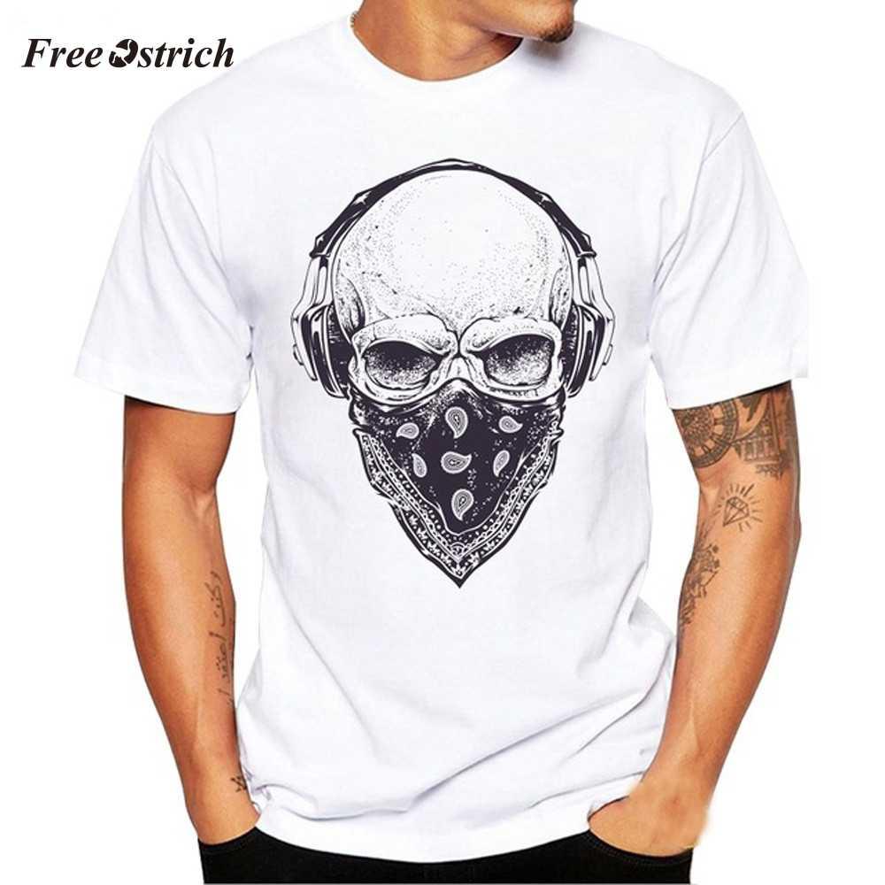 1ae2952a505cf Free Ostrich Men Summer Casual T shirt Panda Print White Short ...