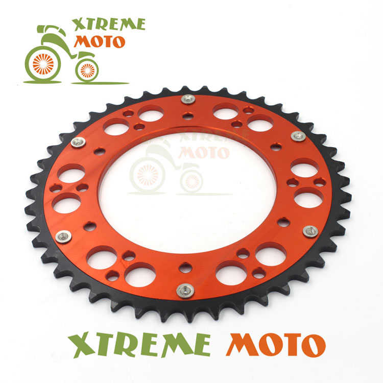 47T CNC Rear Chain Sprocket For KTM 125 200 250 350 400 450 525 530 560 600 620 690 EGS EXC SX EXCF LC4 LSE RXC MXC SMR SXS SXF cnc stunt clutch lever easy pull cable system for ktm exc excf xc xcf xcw xcfw mx egs sx sxf sxs smr 50 65 85 125 150 200 250