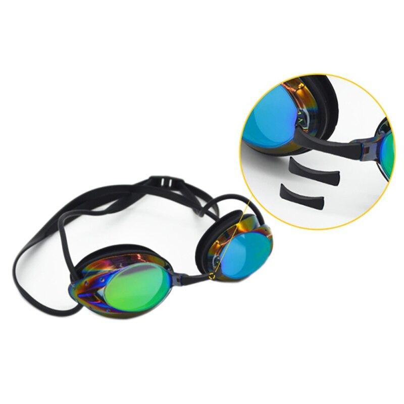 ed735bd15918 Hombres Mujeres al aire libre deportes de agua gafas de natación adultos  impermeable anti-niebla colorido chapado gafas de natación con puente de ...