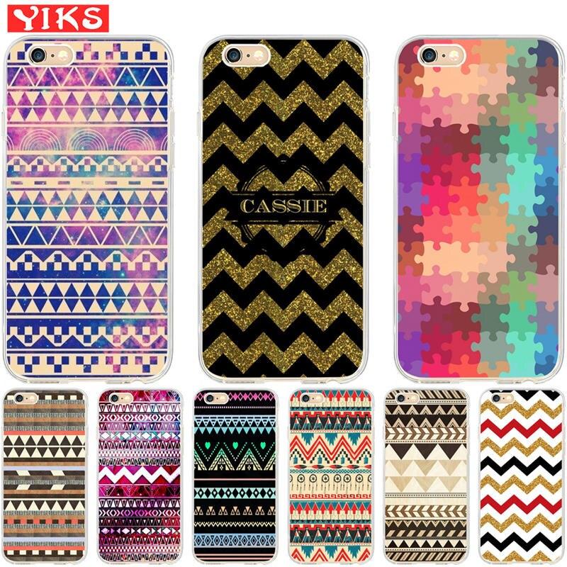 luxury striped puzzle Case Coque for iPhone X XS 8 7 6 6S Plus 5 5S SE Case Cover for iPhone 6 6S 7 8 fundas Capinha Etui