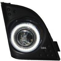 DRL COB Angel Eye Halo Fog Lamp Projector Lens Black Fog Lamp Cover For For Honda