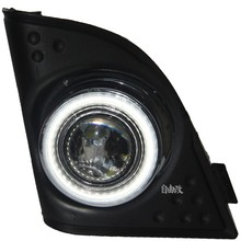 DRL COB angel eye + halo fog lamp + projector lens + black fog lamp cover + for Honda Spirior 2009-12, Accord JDM Europe, 2pcs