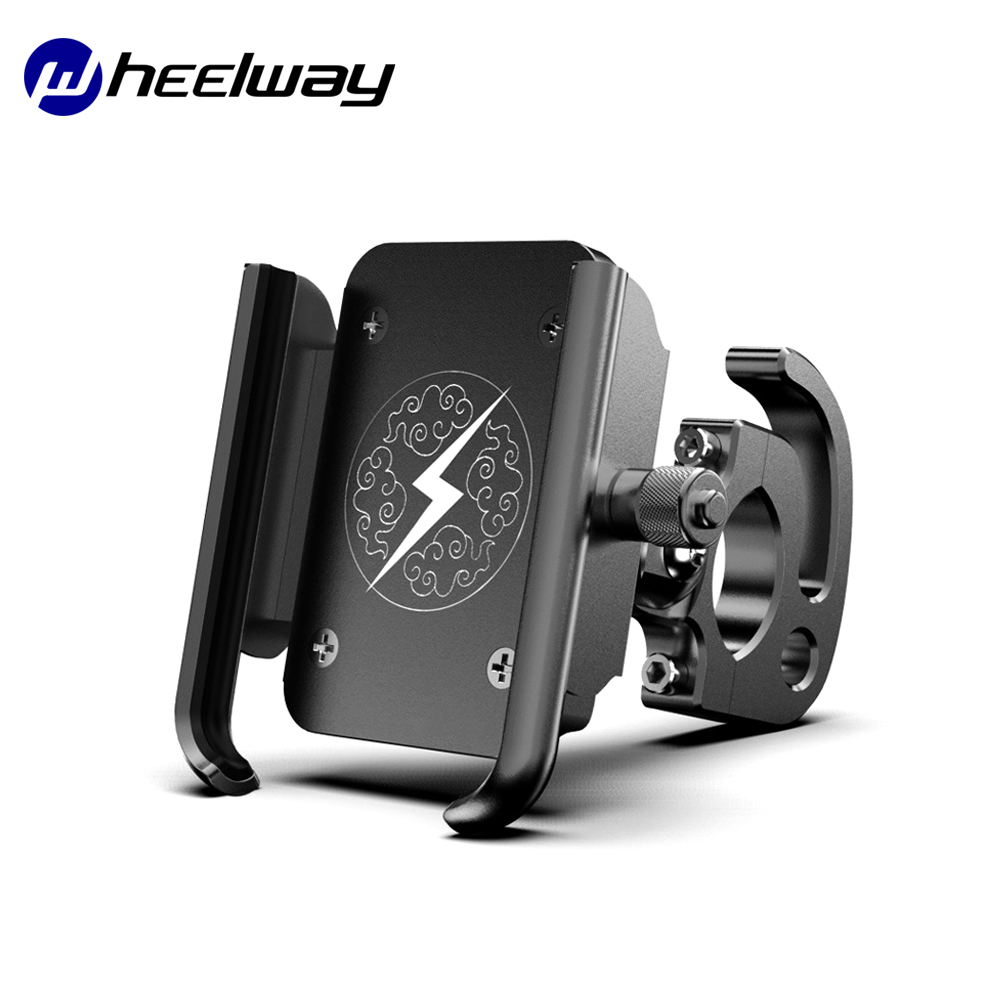 Full Aluminium Alloy Mobile Phone Holder USB Charger Scooter Mountain Bike Rode Bike  Motorcycle Holder Accessories