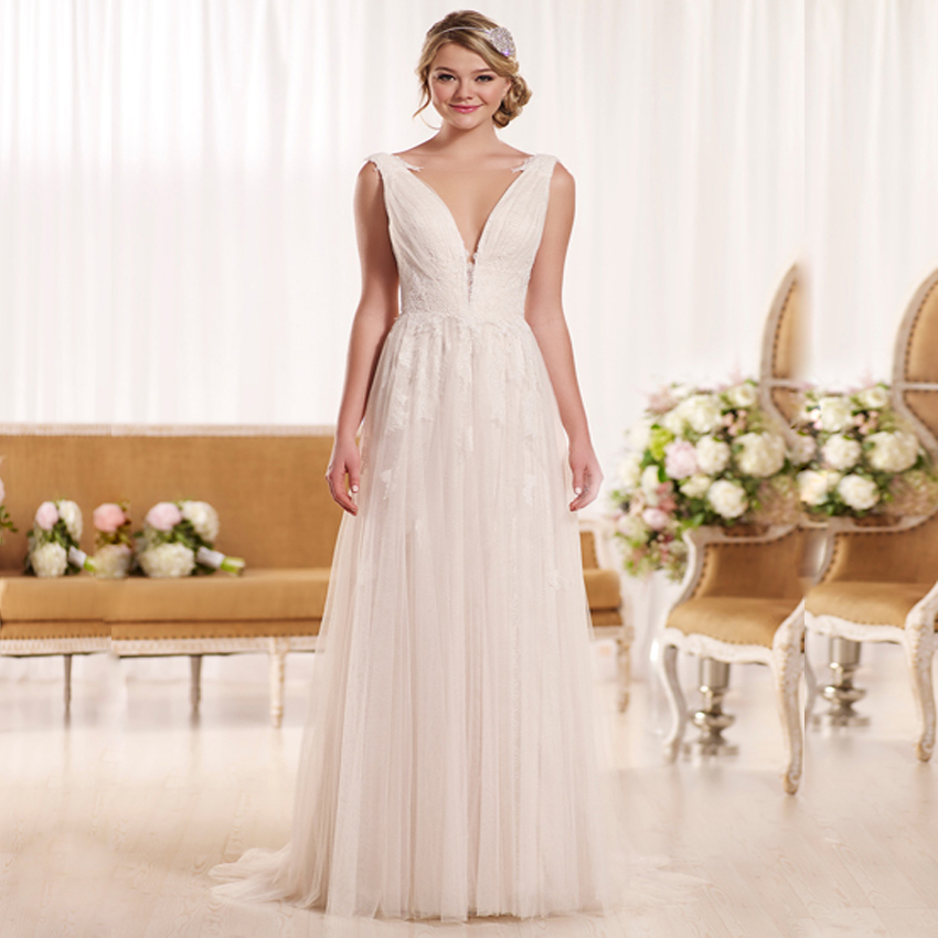 wedding dress tea length white backless short cotton strapless casual a line vintage organza vestidos de