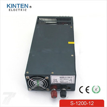 1200W 12V 100A adjustable 220v INPUT Single Output Switching power supply for LED Strip light AC to DC