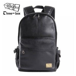 Image 3 - Mochilas de moda de tres cajas para hombre y mujer, mochila Retro de gran tamaño para hombre y mujer, mochila de viaje de ocio para estudiante de la escuela