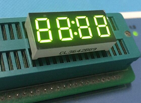 10 шт. общий анод 4bit 4 Бит Цифровой Tube 0.36 дюймов светодиод с часами Цифра 7 сегмента (часы)
