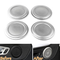 4 Pcs Set Door Speaker Audio Cover Stainless Steel Trim Round Sequined Decoration For X1 2016