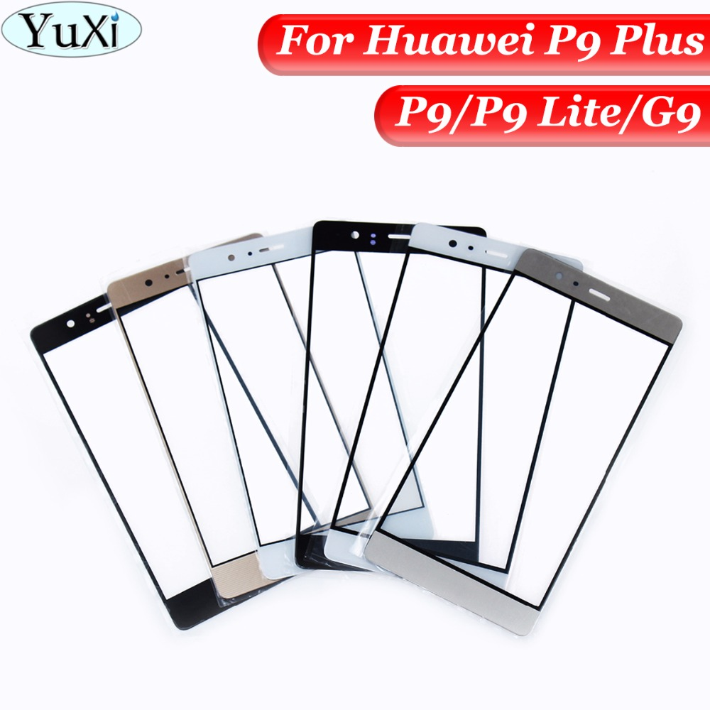 YuXi Touch Screen Glass Lens For Huawei P9/P9 Plus / P9 Lite / G9 Front Outer Glass Lens Replacement Parts with White/Black/Gold
