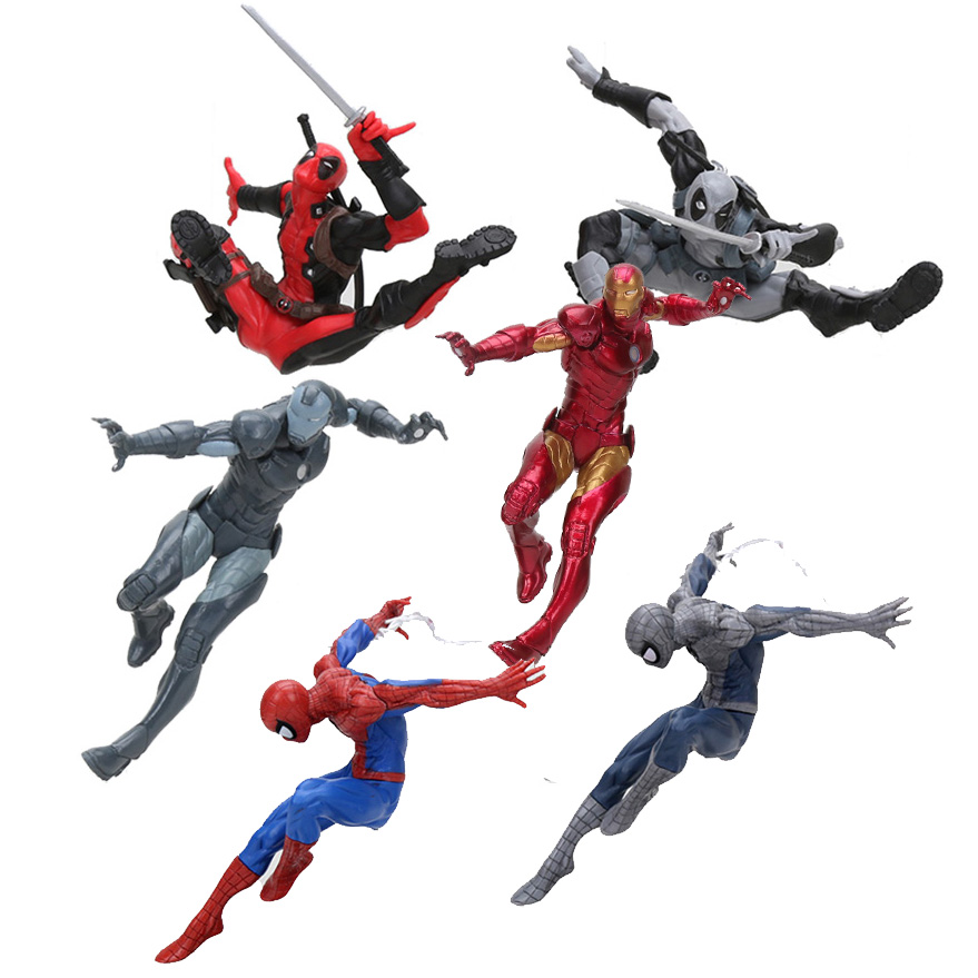 Deadpool And Spider Man 1: 6'' Marvel Avengers Creator Spiderman Deadpool Iron Man