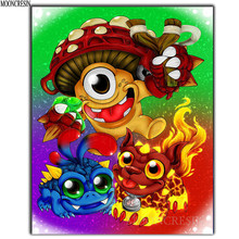 DIY 5D Diamond Embroidery Animated characters Painting Cross Stitch Full Square Mosaic Decoration Cartoon Gifts