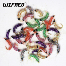 Wifreo 10PCS Size 10# 12# 14# Multiple Color Scud Shrimps Scud Czech Fly Fishing Trout Fishing Flies  Fly Nymphs