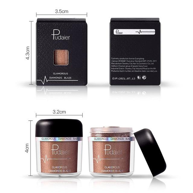 Glitter Eyeshadow Powder Pigments Eye Shadow Easy to Wear Waterproof Shimmer Cosmetics Powder Make Up Single Metallic Color 2018 1
