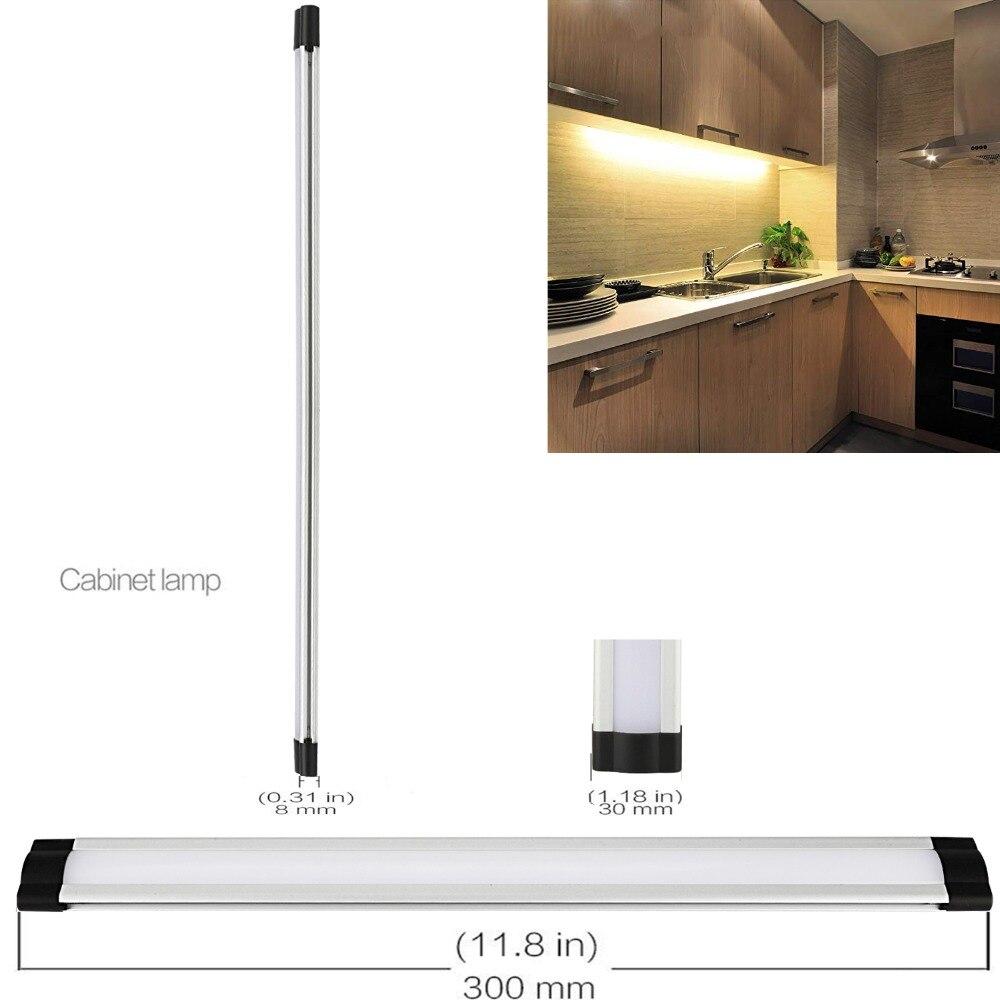 DIY LED-uri Strip lumina 2835 cald alb / alb 0,3M * 3W DC12V sursă de lumină bară liberă (inclus de montaj) utilizare pentru Biblioteca / Task / bucătărie