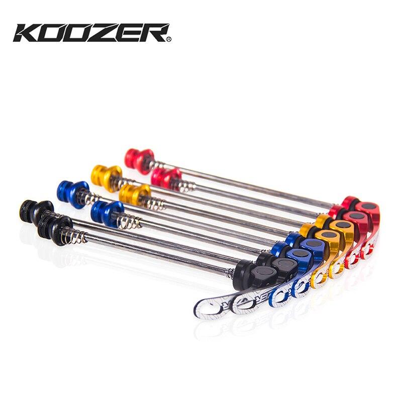 Nuevo Koozer Material de aleación de liberación rápida para bicicleta de montaña palanca de liberación rápida 9*100mm/10*13 MM montaña bicicleta QR pinchos
