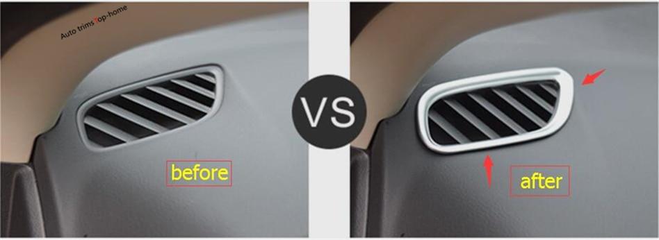 Pour Mitsubishi Outlander 2013-2017 ABS Climatisation AC Outlet Vent Cover Version 2 Pcs/ensemble