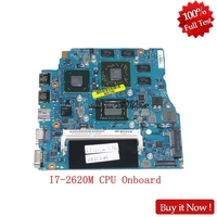 NOKOTION A1820750A For SONY VPCSB1AGX VPCSB MBX 237 13.3 inch Laptop Motherboard with i7 2620M Onboard