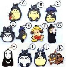 Totoro tonari no Totoro Cosplay keychain Do Pvc No Rosto Los lote A grama paredes Gao Saitama Genos tatsumaki Llavero Chaveiro