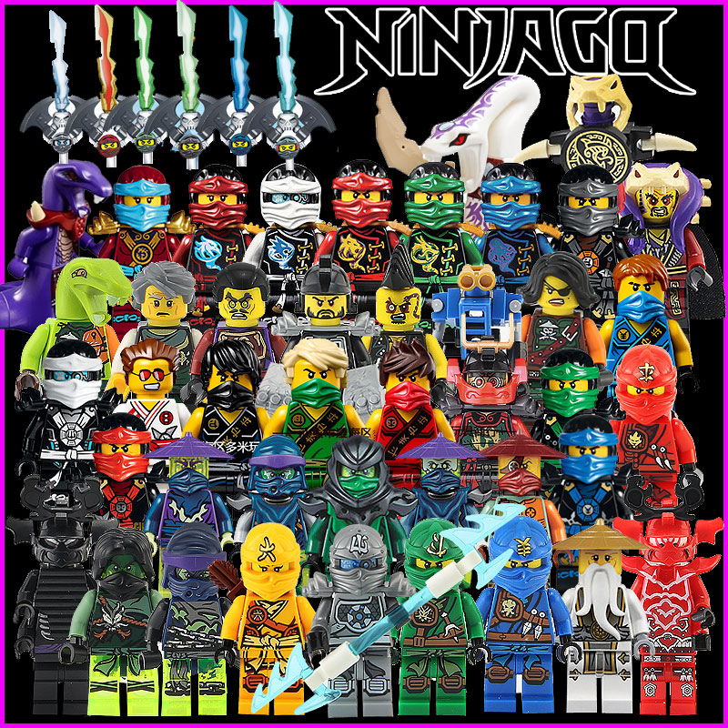 Hot Building Blocks Compatible with LegoINGlys Ninjagoes Sets Bricks Kai Jay Cole Zane Nya Lloyd Weapon Action Toy for Kids zk16 ninjagoeingly cole jay cole zane lloyd sensei wu nya lloyd nadakhan dogshank blocks toys for childre compatible with legoeinglys
