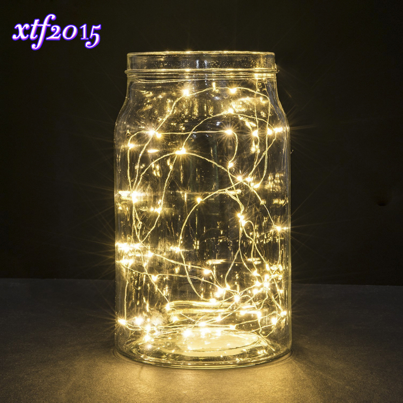 Mini LED String Lights 2M 20leds Copper Wire Garland Home Christmas Wedding Party Decoration Powered By 6V Battery Fairy Light