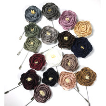 Tailor Smith Flower Brooch Lapel Pin Fashion Designer Handmade Men Solid Rose Flower Brooch Lapel Pin for Men Suit Accessories(China)