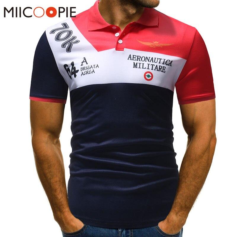 Men Polo Shirt Summer Classic Brand Men Patchwork Letter Printed Short Sleeve Slim Fit  Jerseys Sportwear Polos Shirt XXXL