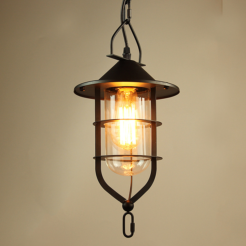 Retro industrial country restaurant Pendant Lights creative loft bedroom cafe  lamp wrought iron droplight Edison LED lighting loft retro tree glaze glass pendant lamp lights cafe bar art children s bedroom balcony hall shop aisle droplight decoration