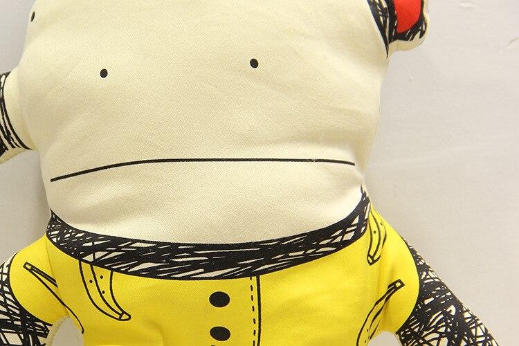 Hot Banana Monkey Pillow Baby Room Decor Child Car Seat Yellow Soft Cotton Newborn Bedding In Stock Free Shipping 1pcs