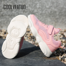 COOLVFATBO 2019 Spring/Autumn Children Shoes Girls Boys Sports Shoes Casual Breathable Outdoor Kids Sneakers Boy Running Shoes