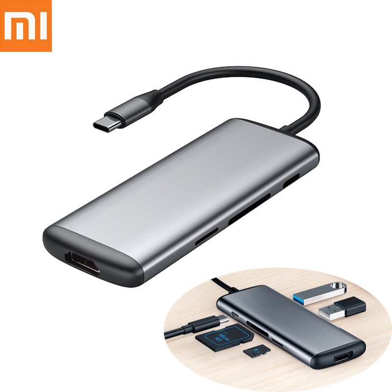 Original Xiaomi mijia Hagibis 6 in 1 Type-c to HDMI USB 3.0 TF SD Card Reader PD Charging Adapter HUB for iPhone Mobile Phone цены онлайн