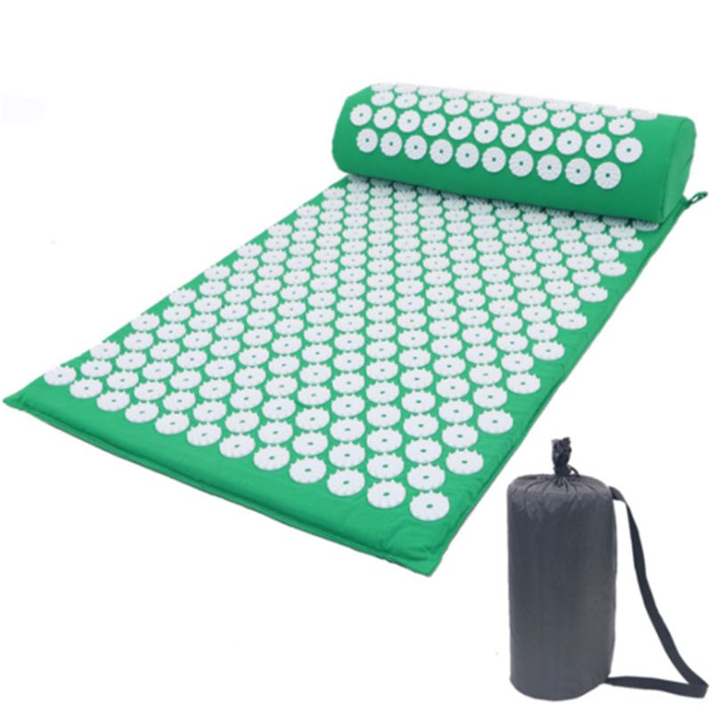 Acupressure Massage Mat for Stress Tension Relaxation with Spike Cushion and Pillow set 12