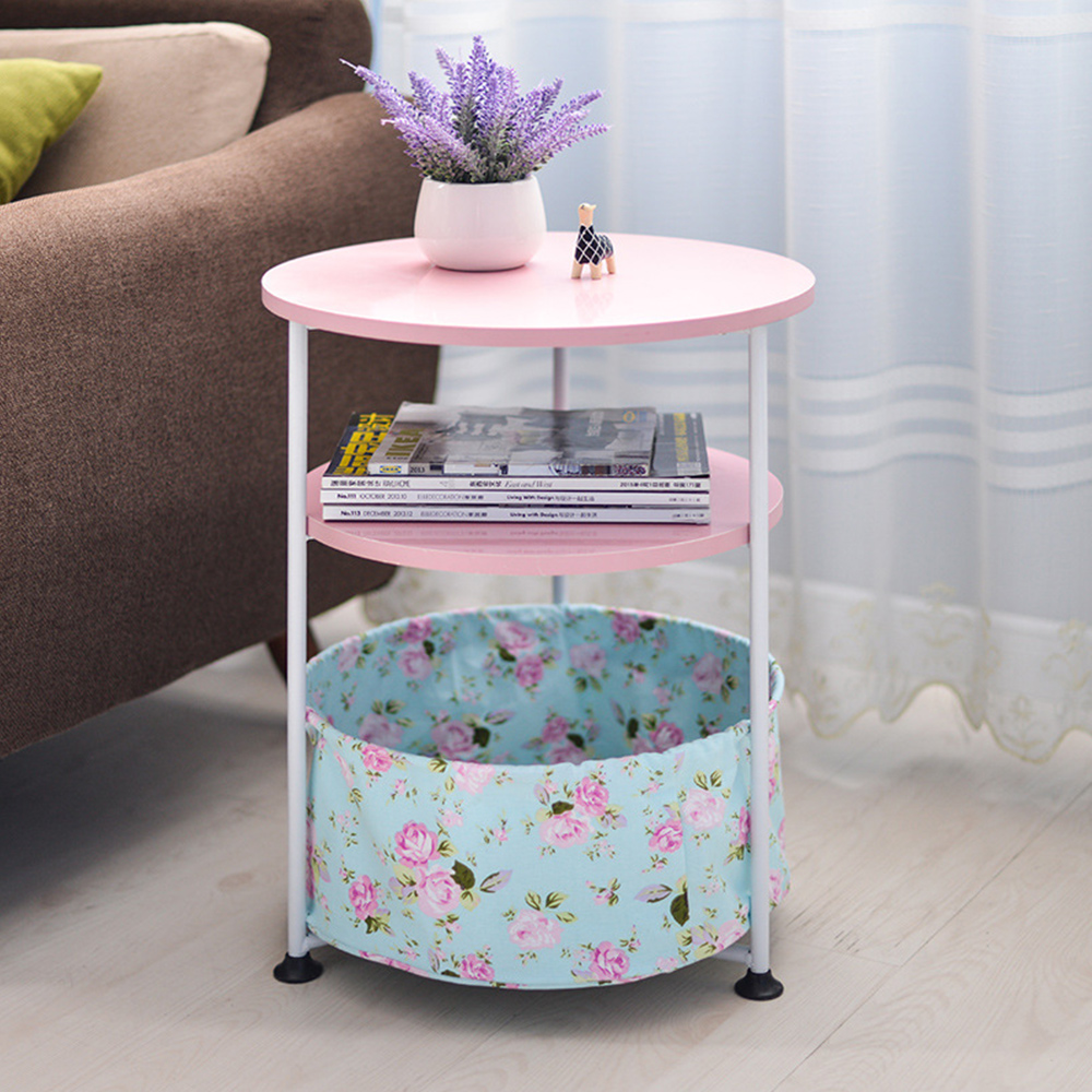 Household Movable Round Sofa Side Table Soomth Table Top Optional Colors Simple Small Tea Table Round Mini Telephone Small Table