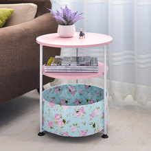 Household Movable Round Sofa Side Table Soomth Table Top Optional Colors Simple Small Tea Table Round Mini Telephone Small Table(China)