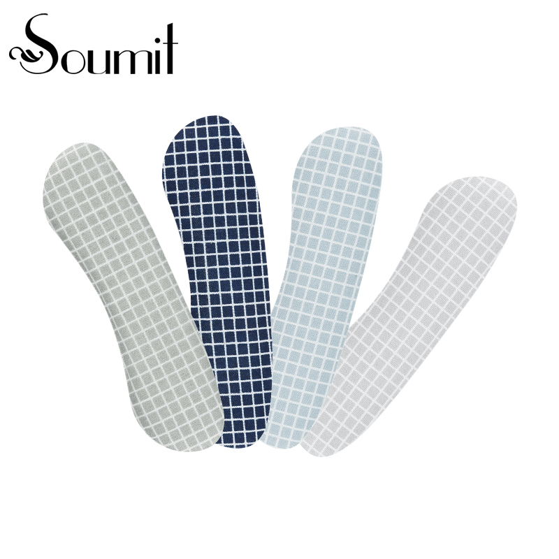 Soumit 4 Pairs Cowhide Leather + Silicone Heel Cushion Anti Slip Heel Self-adhesive Heel Back Liner For Women And Men Shoes