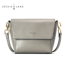 JESSIE & JANE Women's Retro Split Leather Small Cross-body Bag Top-Handle Bags Mini Bags 1176
