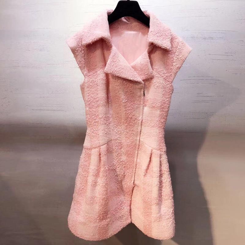 Модные Розовое платье для Для женщин туру вниз Винтаж элегантные женские платья для вечерние 2018 Новый Для женщин платье