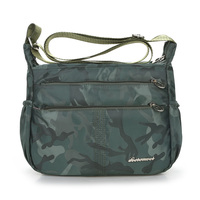 More Zippers Camouflage Shoulder Bag Waterproof Oxford Crossbody Bag Women Lightweight Leisure Travel Bag Nylon Messenger
