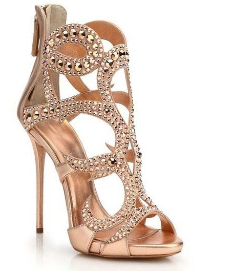 eeeecb203bf1 Luxurious Women Black Gold Champagne Crystal Sandals Bling Bling Cage Dress  Shoes Gladiator Thin High Heel Hollow Out Pumps-in High Heels from Shoes on  ...