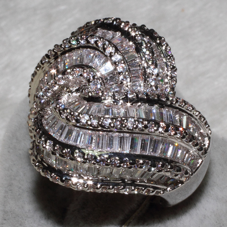 Wholesale Fashion Rings mix size 3PCS PER LOT AAA zircon,This product has 154 Pebble Grain, T 114 grain drill ALW1396
