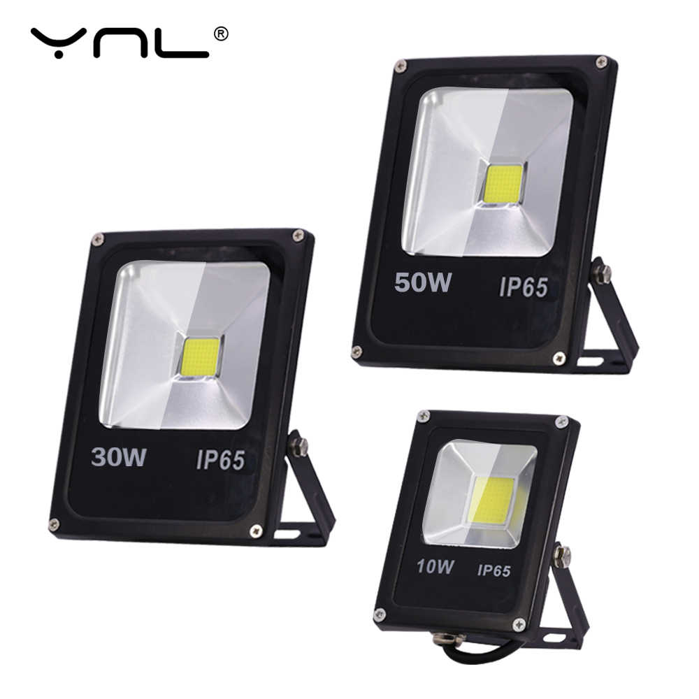 LED Flood Light 220V 50W 30W 10W Floodlights Waterproof IP65 searchlight Reflector foco Led Exterior Outdoor street Spot Light
