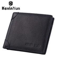 KEVIN YUN Designer Marke Luxus Männer Brieftaschen Aus Echtem Leder Kurze Geldbörse Männlichen Kartenhalter Brieftasche