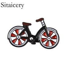 Broche rojo Sitaicery para bicicleta, broche para bicicleta, insignias para ciclistas de estilo clásico, insignias para solapa deportiva, joyería para ciclismo, accesorios de regalo para ciclistas