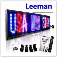 Leeman Красный Программируемый СВЕТОДИОДНЫЙ Дисплей Сообщение Знак Щитовые 16×64 точка Прокрутки Перемещение Сообщение на Дисплее Знак Крытый Доска