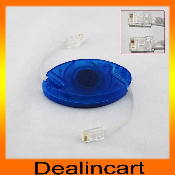 Free shipping 2.5M 8FT RJ45 Retractable Ethernet Cable Cat5 LAN Network Cable
