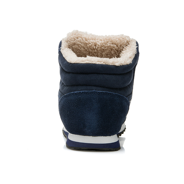 Hot Women Boots Snow Warm Winter Boots Lace Up Fur Ankle Boots Ladies Winter Shoes Black blue Botas Mujer Boots