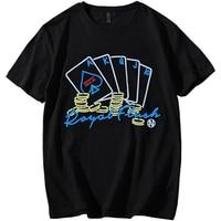 New men T Shirt short sleeve plus size 9XL 8XL 7XL 6XL Men Short Sleeve Poker print Tees hip hop streetwear hiphop shirts Tees