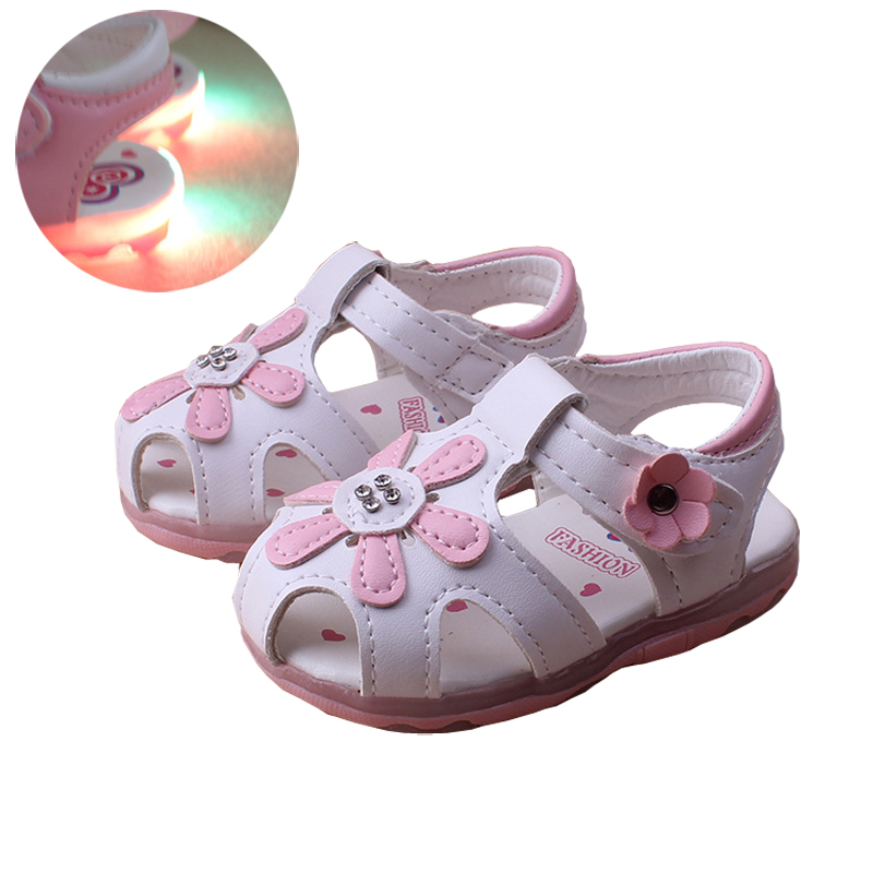 2016 New Style Summer Cute Baby Girls Sandals Princess Flowers Toddlers Kids Shoe Toddler Girl Shoes