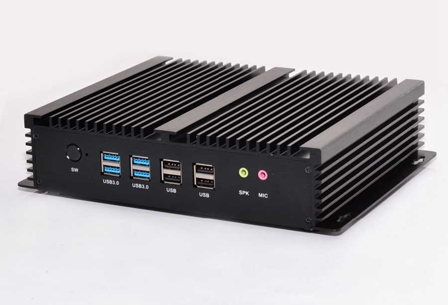 Image 3 - Fanless Industrial Mini PC Win10 Core i3 4010U i5 4200u i7 5550U 2*Intel Gigabit Lans 6*RS232 8*USB Micro Computer 2*HDMI