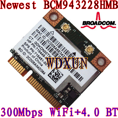 Broadcom Dw1530 Bcm943228hm4l 300m Notebook Wireless N Mini Pcie Half Wifi Card For Dell 300mbps 802.11abgn Internal Module
